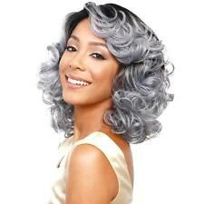 Women's Wigs Grey Synthetic Cosplay Wig Short Wavy Ombre Silver Gray Full Hair