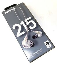 NEW Shure SE215 Sound Isolating Earphones - Clear FREE SHIPPING!