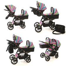 Zwillingswagen Tandem Twin Frestyle 2 x Buggy, 2 x Babywanne, 2 x Babyschale