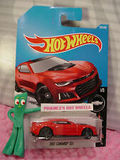 2017 CAMARO ZL1 #220✰red; gray pr5✰CAMARO FIFTY✰2017 i Hot Wheels case L