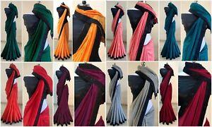 Designer Saree Indian Wedding Bridal Silk Saree Embroidery Lace Border Sari NT