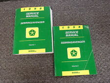 1998 Chrysler Sebring Coupe Service Repair Manual Set Convertible JX JXi LX LXi