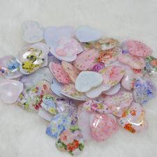 10pcs Mixing Heart flower Cute Resin flatback Scrapbooking For DIY phone /craft