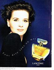 PUBLICITE ADVERTISING 096  1998  Parfum femme Poeme Lancome Juliette Binoche