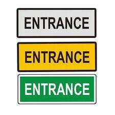 """Entrance Metal Door Sign 6"""" x 2"""""""