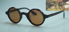 Vintage round polarized Sunglasses mens acetate eyeglass tortoise brown lenses