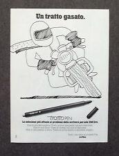 G290-Advertising Pubblicità - 1981 - TRATTO PEN UN TRATTO GASATO