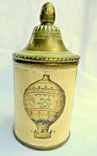 Vintage Tobacco Jar Italy Grafiche Taggotti Hot Air Balloon Comoy's of London