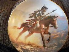 "Hamilton Collection Plate Indian Design ""Spirit Of The Plains "" Mystic Warriors"