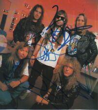 Iron Maiden Autogramme full signed 10x17 cm Magazinbild