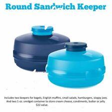 sandwich keeper light blue Tupperware