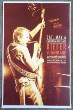 KIEFER SUTHERLAND BAND 2017 Gig POSTER Portland Oregon Not Whiskey Concert