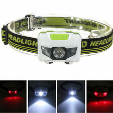 4 Modes 2LED Head Torches Mini Headlight Headlamp Lamp Flashlight Powerful Light