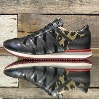 Dolce & Gabbana Sneakers Men's sz 9 (CS 1341 9) black/red cheetah dyed pony hair