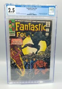 Fantastic Four #52 CGC 2.5 1st Black Panther T'Challa Marvel (1966)