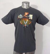 Shirt.woot rock paper scissors men's t-shirt gray L