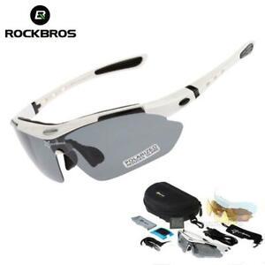 ROCKBROS Polarized Cycling Sunglasses UV400 Bike Goggles Riding Hiking Glasses
