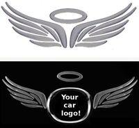 3D Flügel Engelsflügel Angel Auto Aufkleber Sticker Emblem chrom Diesel Benziner