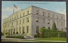 Baton Rouge Court House Post Office Louisiana Postcard
