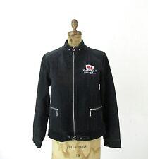 Womens Moto Cafe Racer Oscar Piel Leather Jacket Colorado Belle Poker Room Sz L