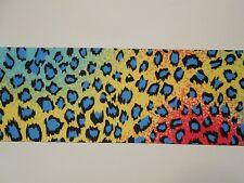 "Cheetah Rainbow Animal print Grosgrain Cheer Bow Ribbon 4 hairbow  3"""