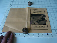 vintage Slide Rule Instructions: Dietzen how to use, 18pgs, 1942, yellow cover