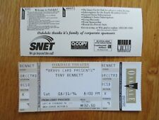 Unused Tony Bennett August 31, 1996 Oakdale Theatre Ticket