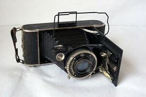 1933 Voigtlander 6.5x11cm Folding Roll Film(116) Camera w/Skopar 11.4cm 4.5 Lens