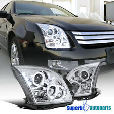 For 2006-2009 Ford Fusion LED Halo Projector Headlights Replacement Pair