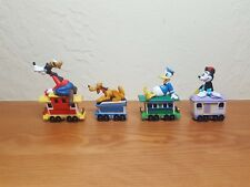 4 cars from Hallmark 1998 Disney Mickey Mouse Express Train Merry Miniatures