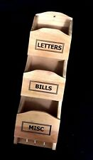 Wooden Letter Bill Key Holder Wall Hanging Multi-functional Organiser