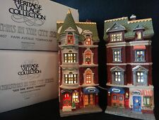 """Dept 56 Christmas in the City """"5607 & 5609 Park Avenue Townhouse"""" retired 1992"""