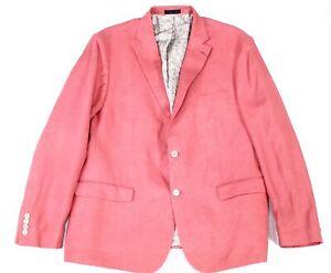 Lauren by Ralph Lauren Mens Sport Coat Red Size 44 Classic Fit Linen $295 #106