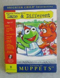 W/BOX BRIGHTER CHILD MUPPETS READING SKILLS SAME & DIFFERENT MAC & PC CD ROM