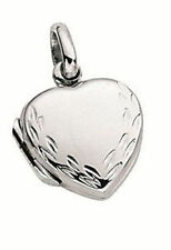 Sterling Silver No Stone Love Hearts Locket Fine Necklaces & Pendants