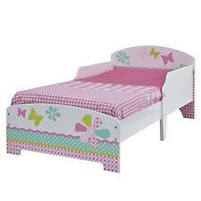 GIRLS PRETTY & PINK PATCHWORK TODDLER BED BUTTERFLIES