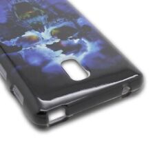 Hard Cover Protector Case for LG Optimus F7 US780 - Blue Skull
