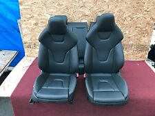 AUDI A5 S5 RS5 8T B8 LEATHER SEAT SEATS SET FRONT REAR BLACK WITH WHITE STITCHES