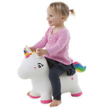 Bouncy Inflatable Animal Jump-Along for Toddlers - Unicorn (hs)