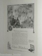 1920 Elgin Watch advertisement, ELGIN Pocket Watch, first watch, watchman