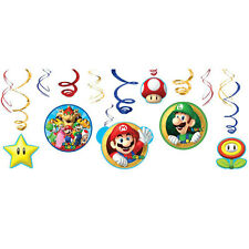 NEW Super Mario Brothers Value Pack Foil Swirl Decoration Party Favor Supplies~