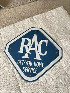 Vintage RAC Enamel Sign