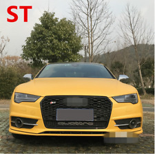 For Audi A7 Hatchback 2016up Full Black Front Mesh Grille Grill To RS7 Quattro