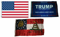 3x5 Trump #1 /& Republican /& State of New York Wholesale Set Flag 3/'x5/'