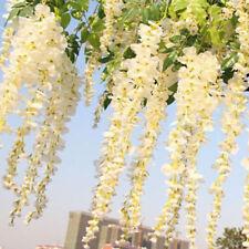 12pcs Hanging Artificial Wisteria Fake Garden Flowers Vines Outdoor/Home Decor