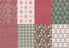 Motiv-Kartenpapier/Karton-TKK 09-verschiedene Muster mit Glimmer-ca.260g -A5
