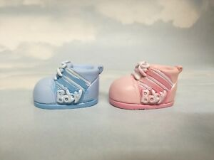 Baby Booties Booty Shoe Gender Reveal Shower Cake Topper Pink Blue Free Post