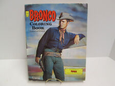 "Rare 1959 ""BRONCO"" TY HARDIN WESTERN TV Show Coloring Book by SALLFIELD"