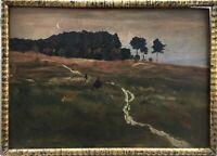 Franz Waldaestel Landschaft am Waldrand Oktober 1907 Leipziger Maler 36 x 50 cm