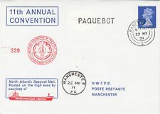 (05026) CLEARANCE GB NWFPS Cover PAQUBOT Manchester Liners 22 May 1971
